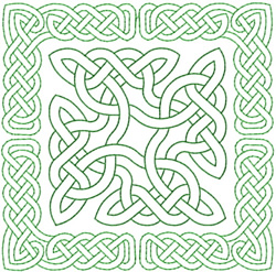 CELTIC KNOT SQUARE 784 - OUTLINE embroidery design