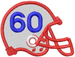 FOOTBALL HELMET embroidery design