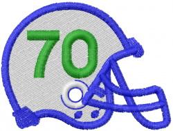 FOOTBALL HELMET embroidery design