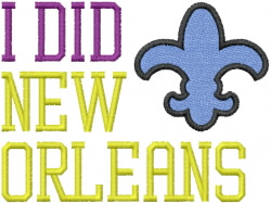 Did NEW ORLEANS embroidery design