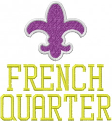 FRENCH QUARTER embroidery design
