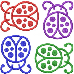 LADYBUG OUTLINES embroidery design