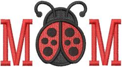 Mom Ladybug embroidery design
