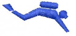 Scuba Diver Pictograph embroidery design