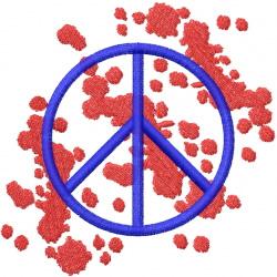 PEACE SIGN SPLATTER embroidery design