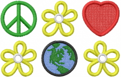 World Peace and Love embroidery design