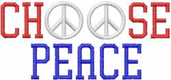 Choose Peace embroidery design