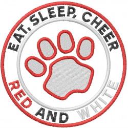 Eat Sleep Cheer embroidery design