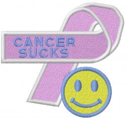 CANCER SUCKS embroidery design