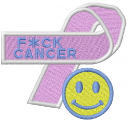 F*CK CANCER embroidery design