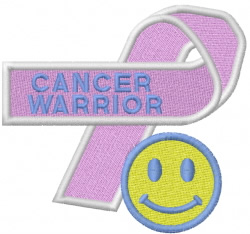CANCER WARRIOR embroidery design