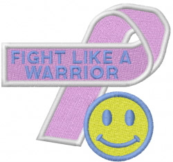 FIGHT LIKE A WARRIOR embroidery design