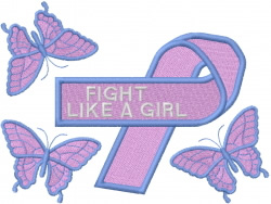 Fight Like a Girl embroidery design