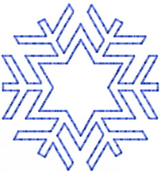 Snowflake 40 embroidery design