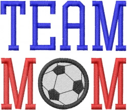 SOCCER – TEAM MOM embroidery design