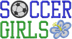 SOCCER GIRLS embroidery design