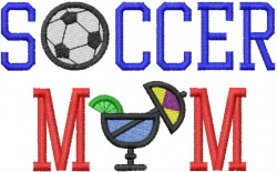 SOCCER MOM embroidery design