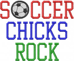 SOCCER CHICKS ROCK embroidery design