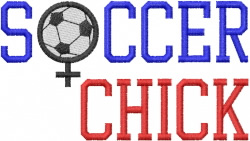 SOCCER CHICK embroidery design