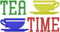 Tea Time Cups embroidery design