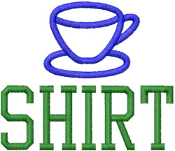 Tea Cup Shirt embroidery design