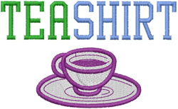 Tea Shirt embroidery design