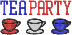 Tea Party Cups embroidery design