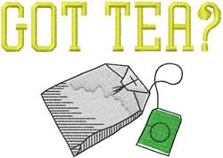 GOT TEA embroidery design