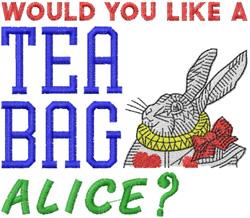 Like A Teabag embroidery design