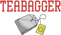 Teabagger embroidery design