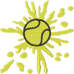 TENNIS BALL SPLATTER embroidery design
