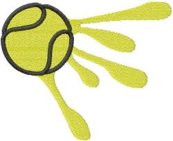 TENNIS BALL SPLAT embroidery design