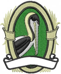 Pelican Banner embroidery design