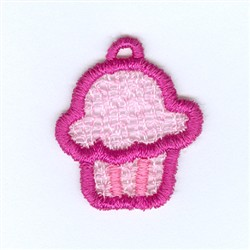 Cupcake Lace Charm embroidery design