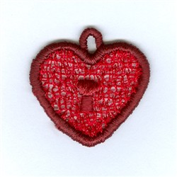 Lock Lace Charm embroidery design