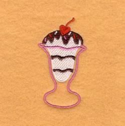 Sweetheart Sundae embroidery design