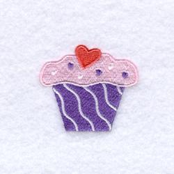 Sweetheart Cupcake embroidery design