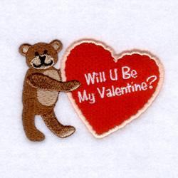 Will U Be My Valentine? embroidery design