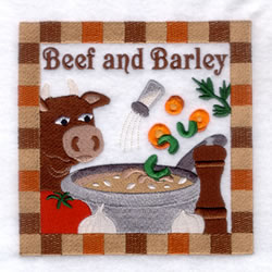 Beef & Barley Soup - Large embroidery design