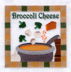 Broccoli Cheese Soup - Large embroidery design