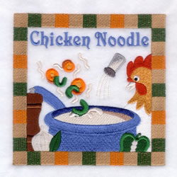 Chicken Noodle Soup - Large embroidery design