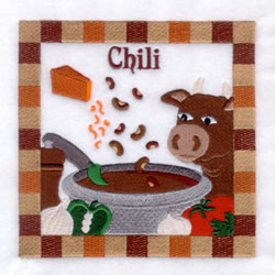 Chili - Large embroidery design