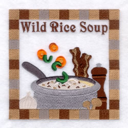 Wild Rice Soup - Large embroidery design
