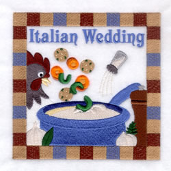 Italian Wedding Soup - Large embroidery design