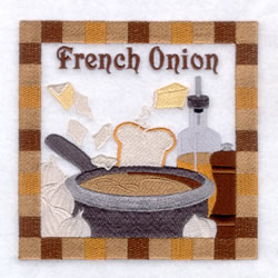French Onion Soup - Large embroidery design