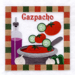 Gazpacho Soup - Large embroidery design