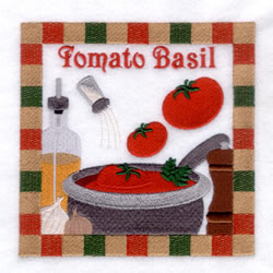 Tomato Basil - Large embroidery design