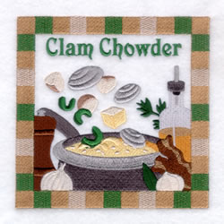 Clam Chowder - Large embroidery design