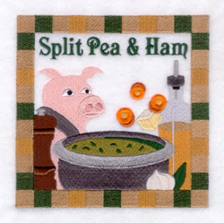 Split Pea & Ham Soup - Large embroidery design