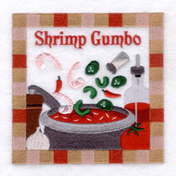Shrimp Gumbo - Large embroidery design